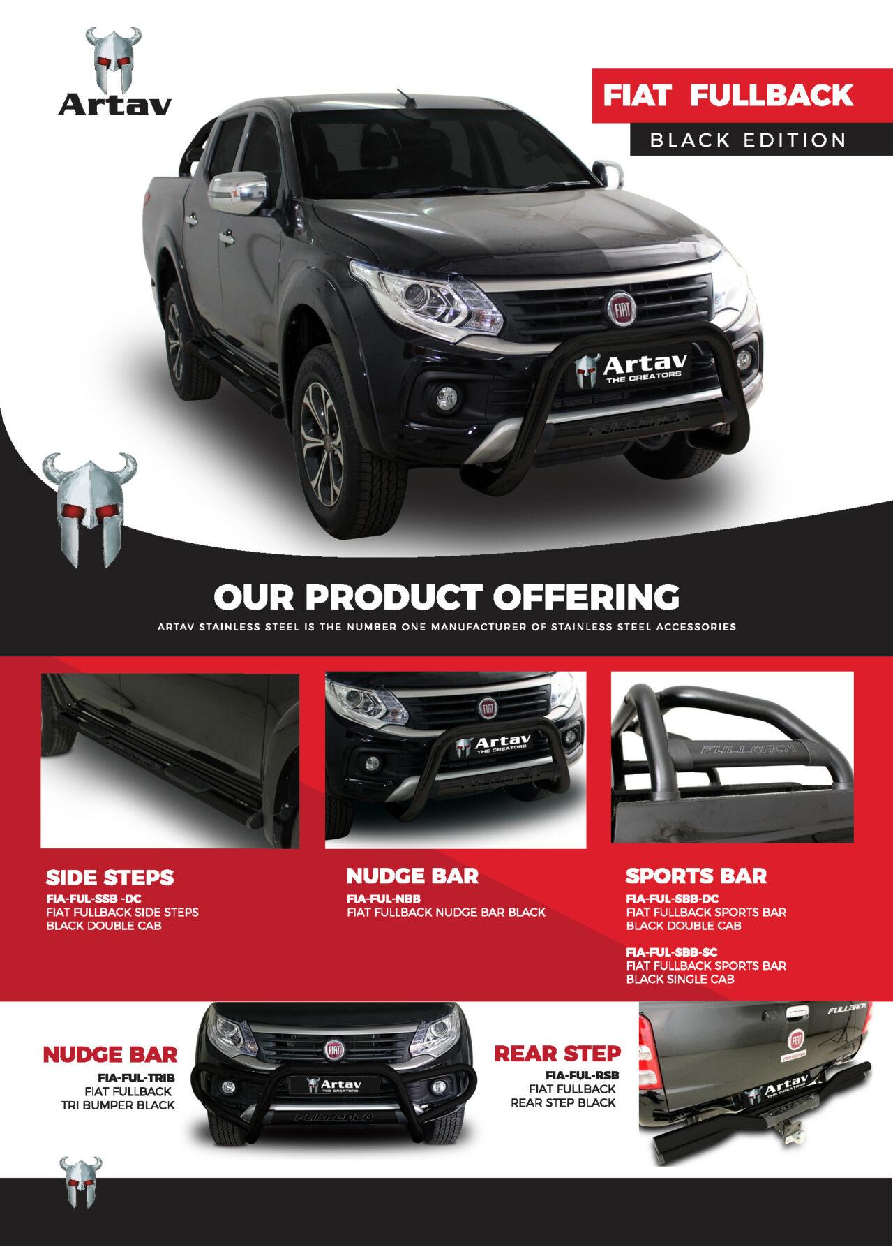 Artav Stainless Steel ARTAV Fiat Fullback Black Stainless Brochure