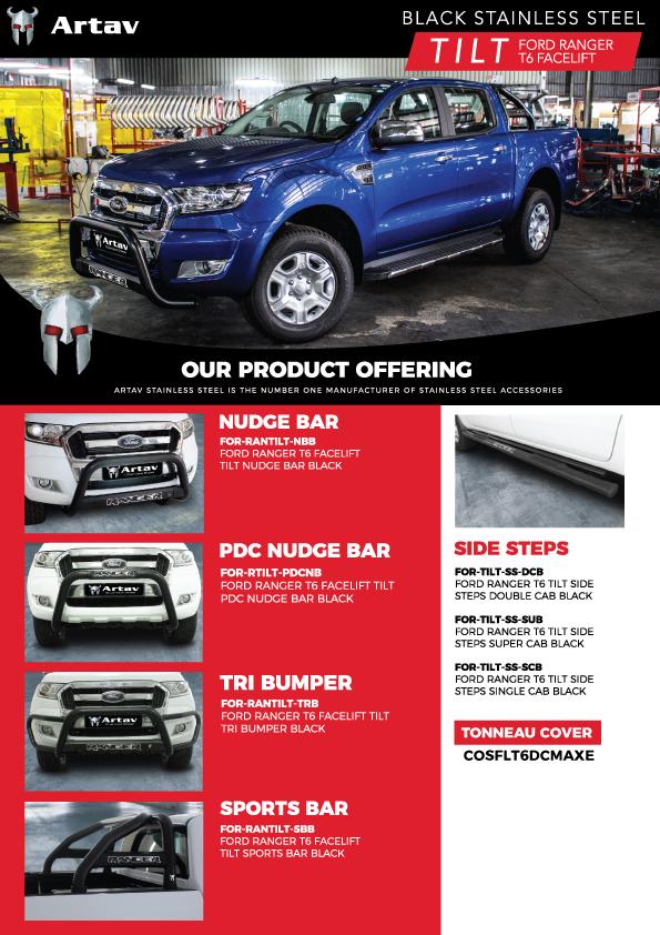 Artav Stainless Steel Artav TILT Brochure CHANGES NEW DECALS Black Stainless