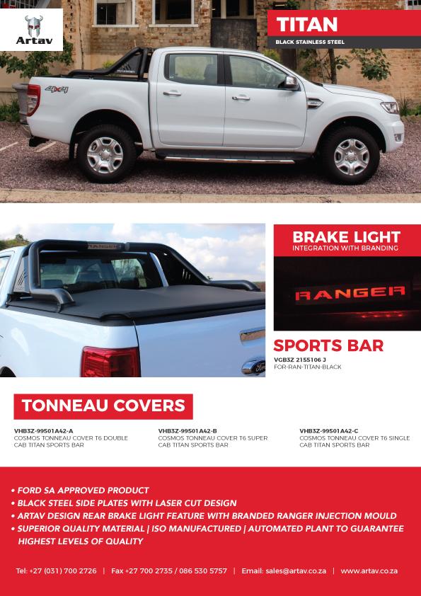 Artav Stainless Steel Artav Ford Ranger Titan Brochure Black Stainless