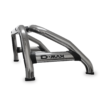 Isuzu DMAX Sports Bar Double Cab & Extended Cab Stainless (Black Base Plates)