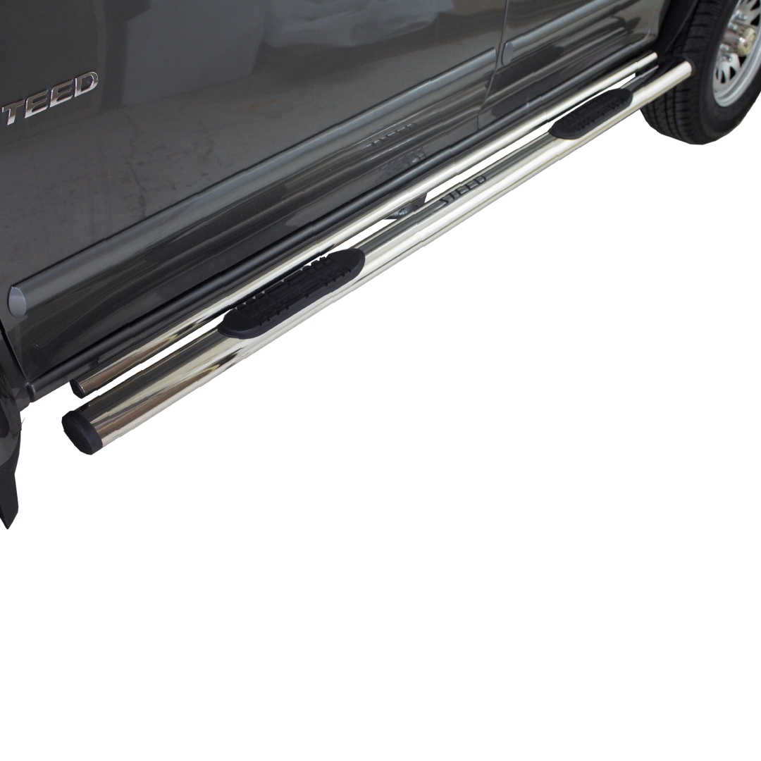 Steed 5 & 5E Double Tube Oval Side Steps Stainless (Fits all DC Models)