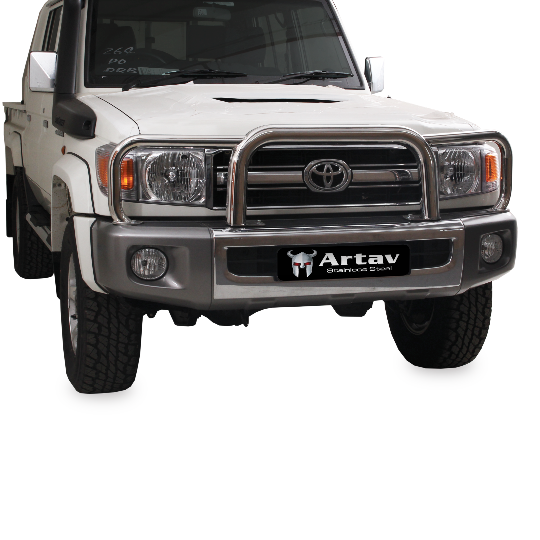 Toyota Landcruiser 70 Series Grill Guard Stainless