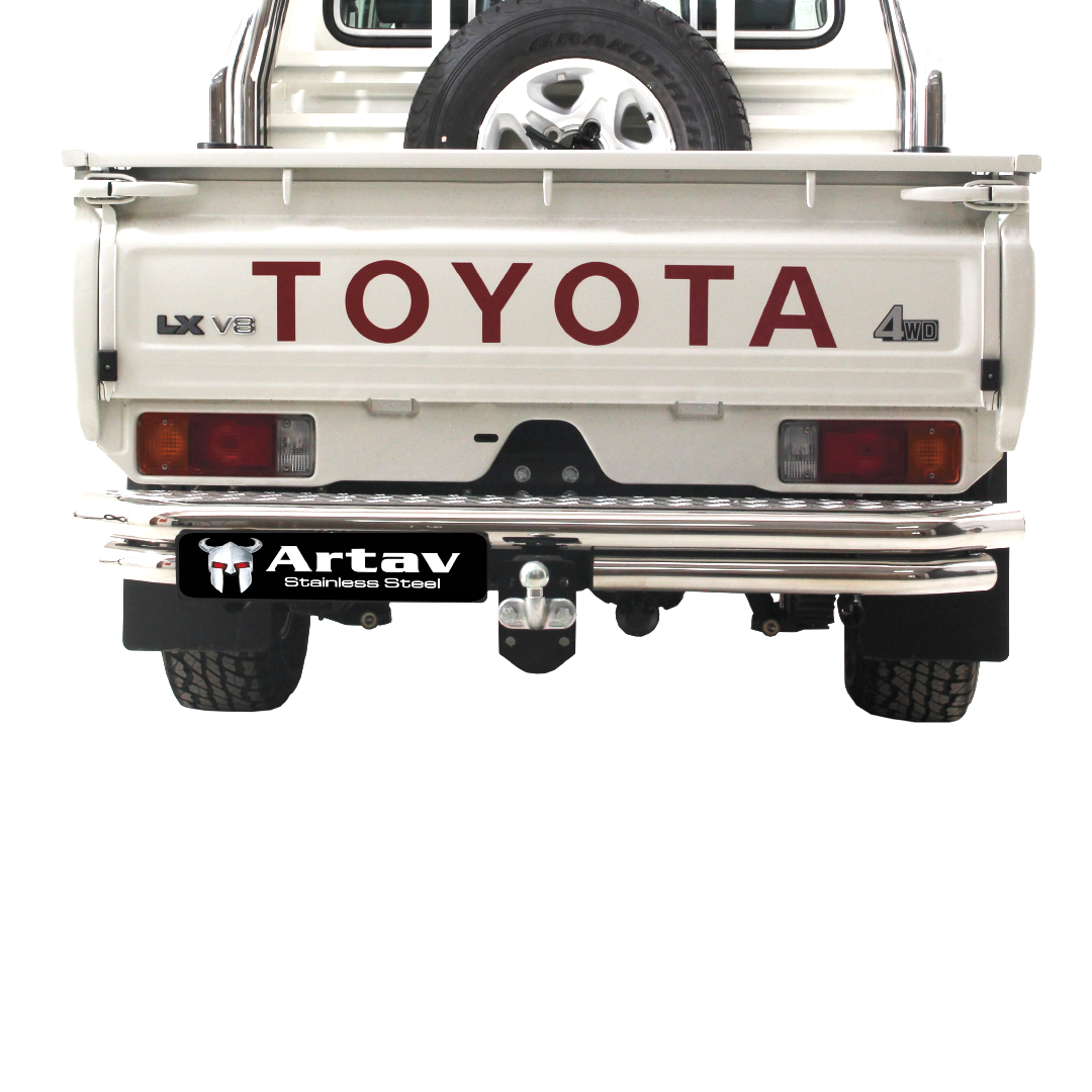 Toyota Landcruiser Rear Step Stainless (Fits ONLY with our Towbar 90031T)