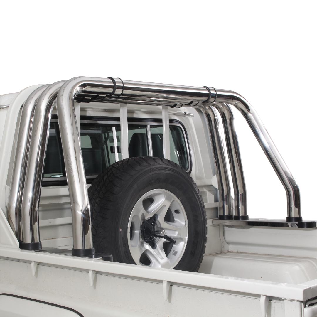 Toyota Landcruiser 70 Series Triple Styling Bar Stainless
