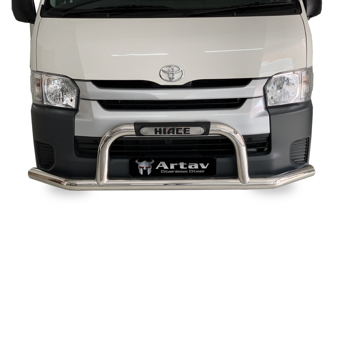 Toyota Quantum Hi Ace Front Styling Bar with Branded Injection Mould (76mm) Stainless