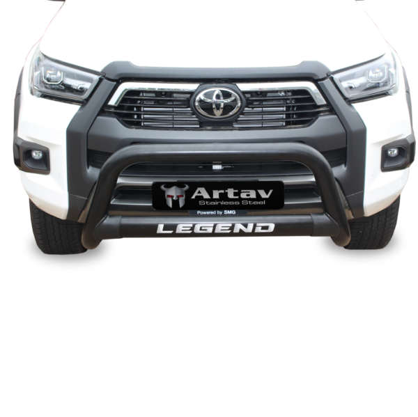 Toyota Hilux LEGEND Oval Nudge Bar Black